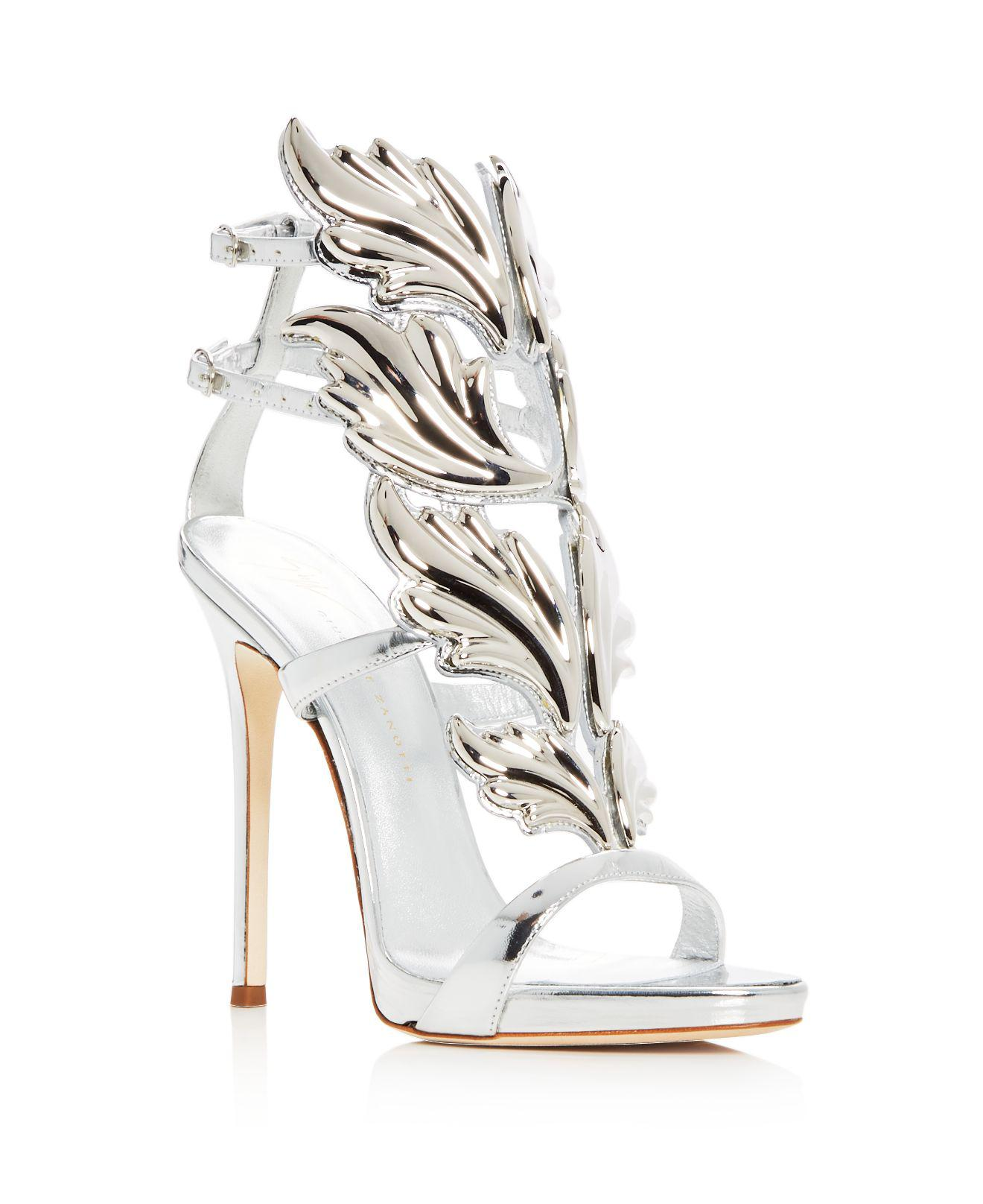 Giuseppe ZanottiWomen's Cruel Coline Leather Wing Embellished High-Heel Sandals