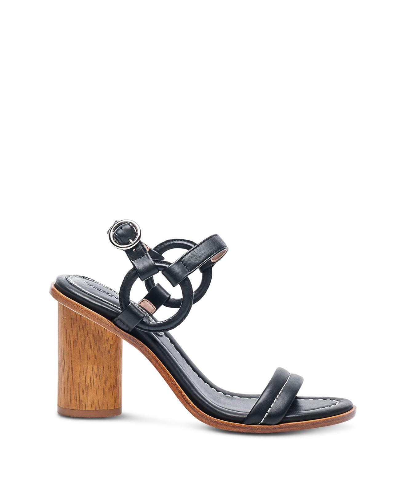 Bernardo Women's Leather Circle Strap Block Heel Sandals UdbLrbWEu
