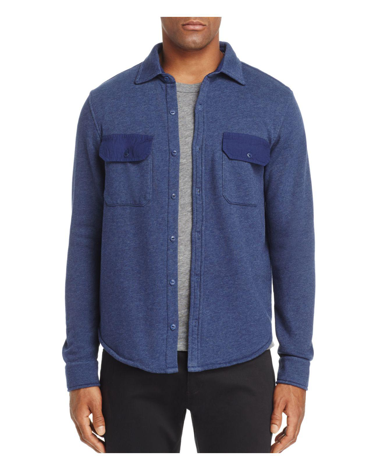 Lyst Goodlife Shirt Jacket In Blue For Men