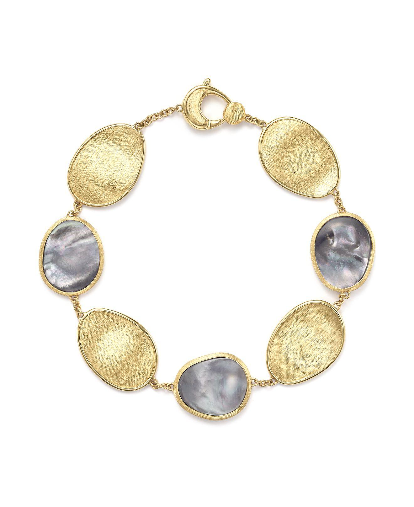 Marco Bicego Lunaria Mother-of-Pearl Station Bracelet N675x