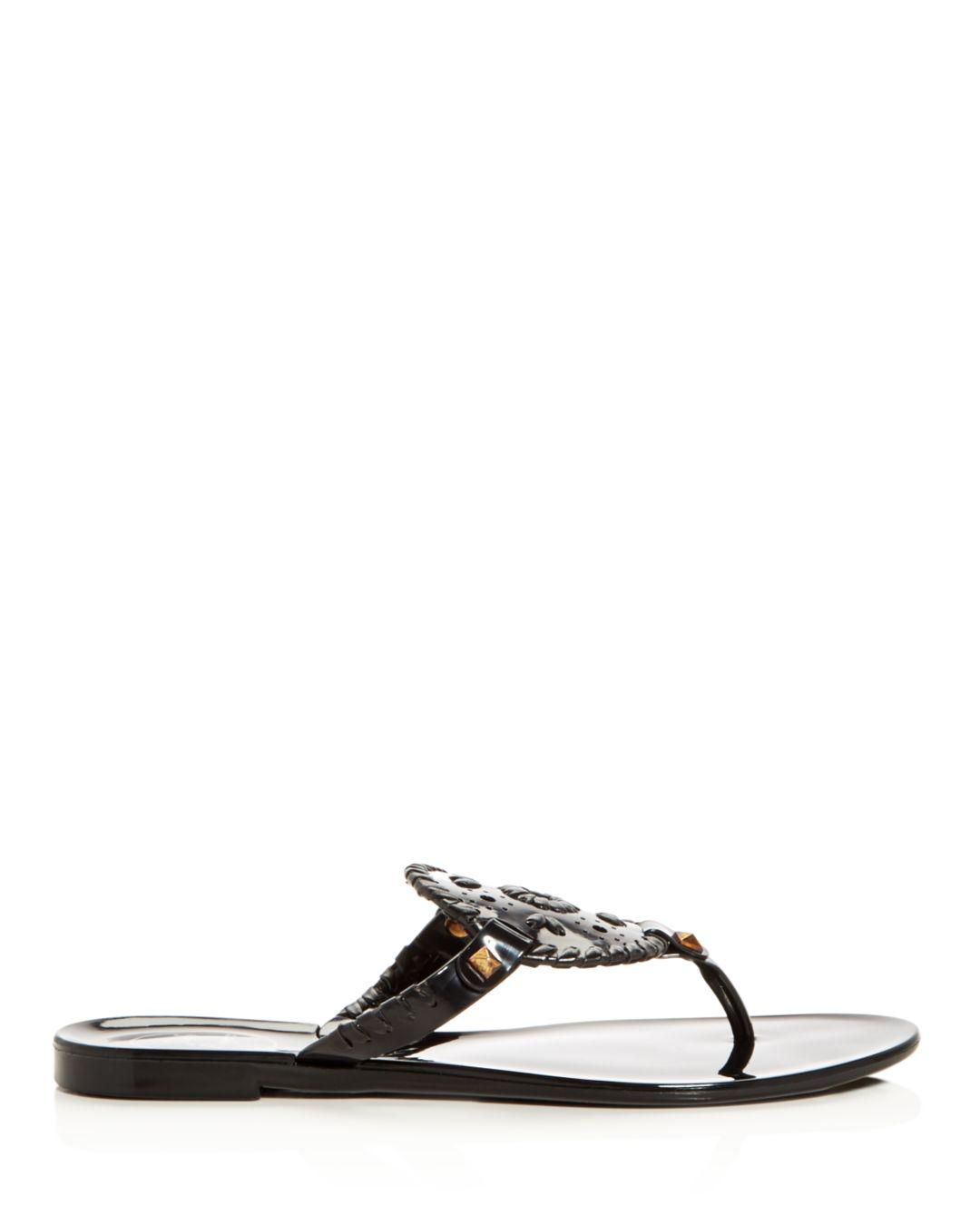 9df680a4d Lyst - Jack Rogers Georgica Jelly Thong Sandals in Black - Save 28%