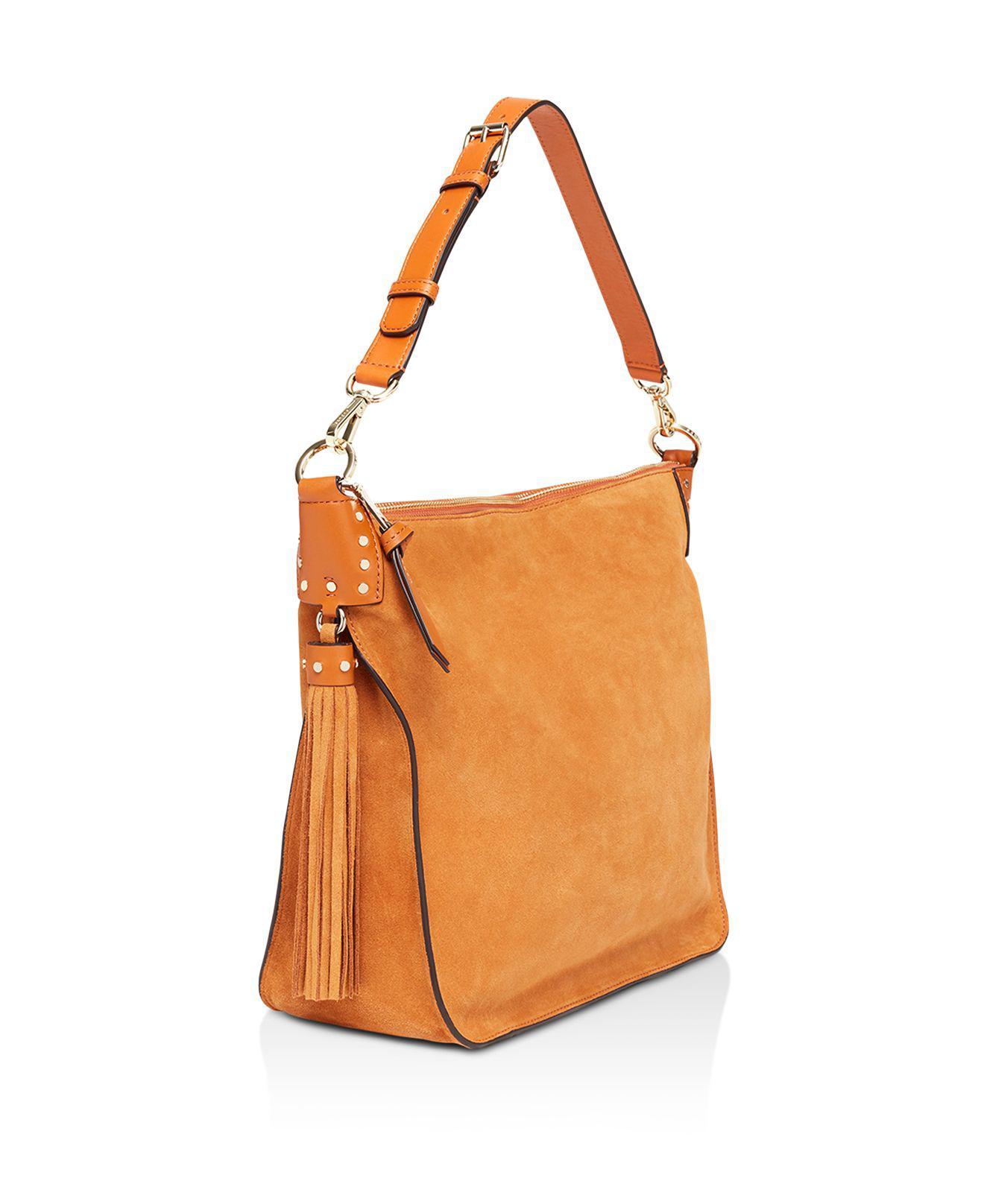 Cheapest For Sale Sandro Masha Suede Shoulder Bag Best Place bkAGNXhz