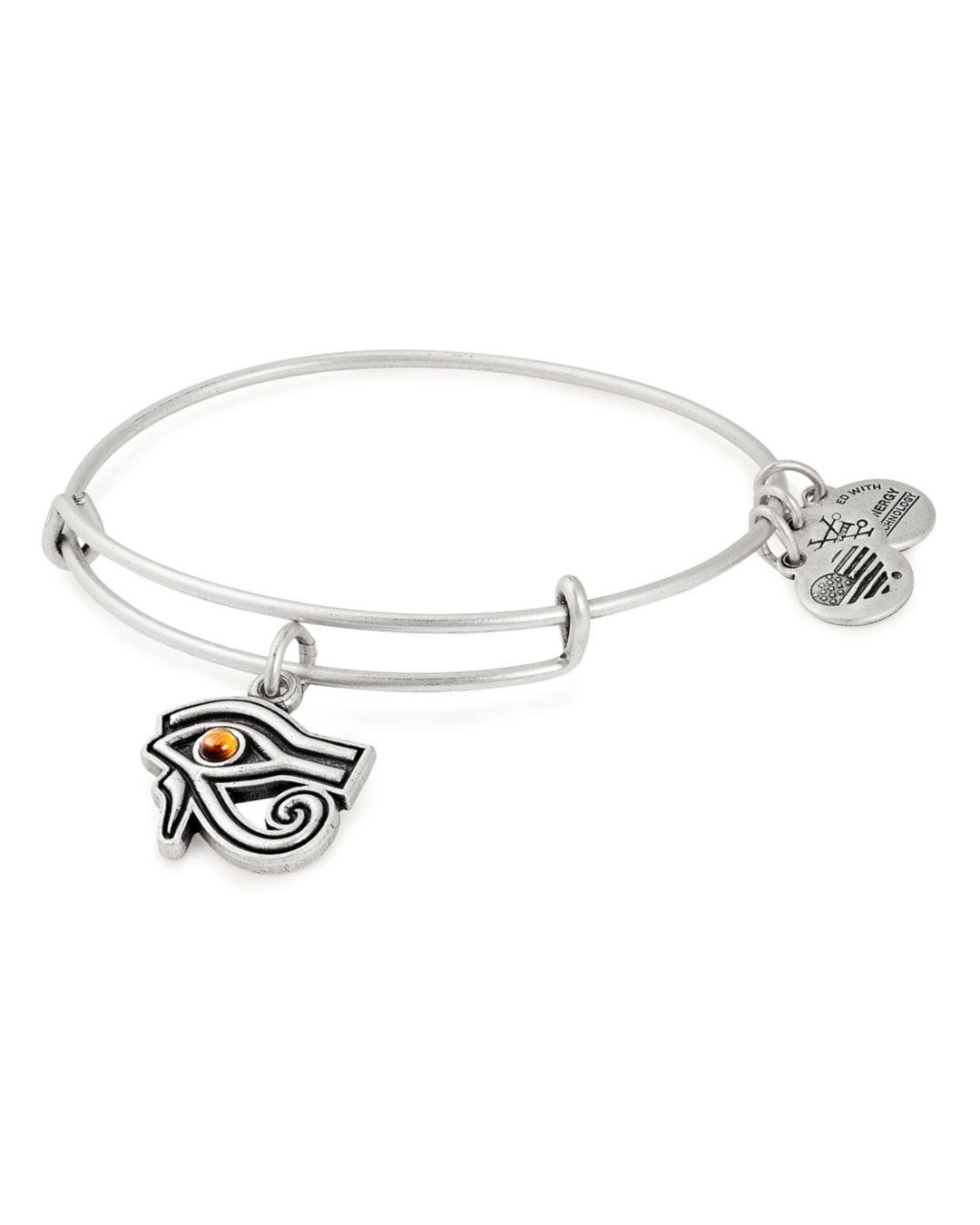 Expandable Alex and Ani Womens Eye of Horus EWB Bangle Bracelet