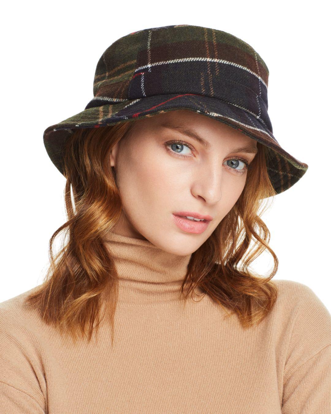 2823e29cfb5b4 Barbour - Brown Galloway Plaid Bucket Hat - Lyst. View fullscreen