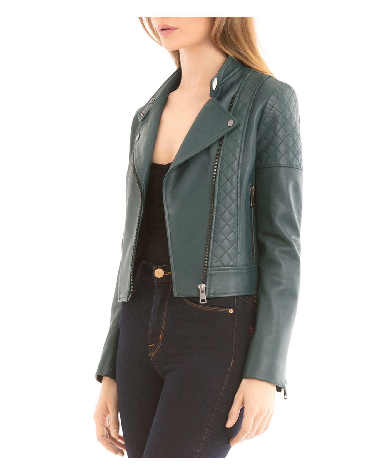 Bagatelle Nyc Quilted Leather Biker Jacket Lyst