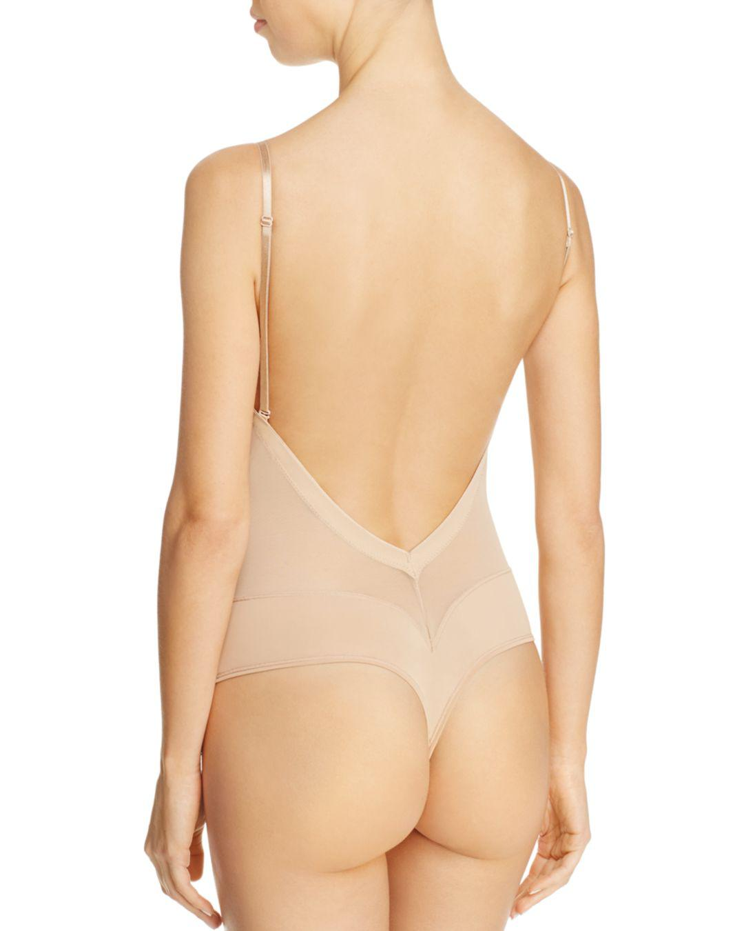 4db28b51c35d5 Fine Lines Refined Convertible Low Back Backless Thong Bodysuit in Natural  - Save 4% - Lyst