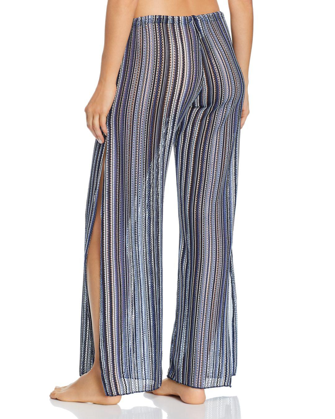 e40376f1484d6 Lyst - Becca Pier Side Striped Swim Cover-up Pants in Blue - Save 50%