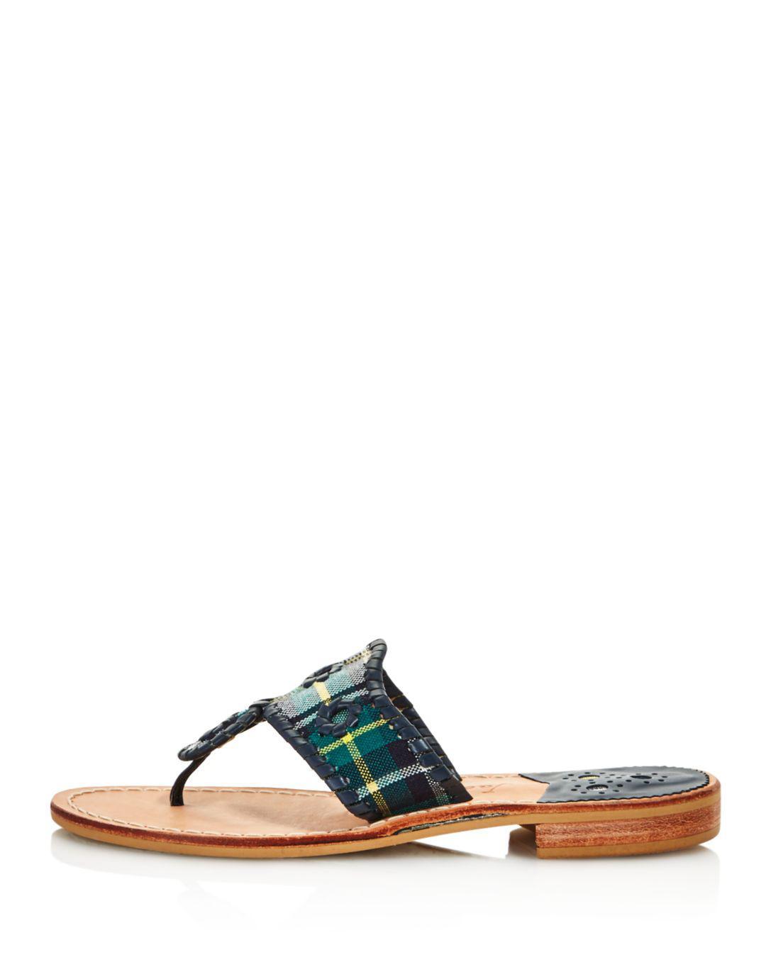 6c0bb8d4bd98 Jack Rogers Women s Jacks Thong Sandals in Green - Lyst