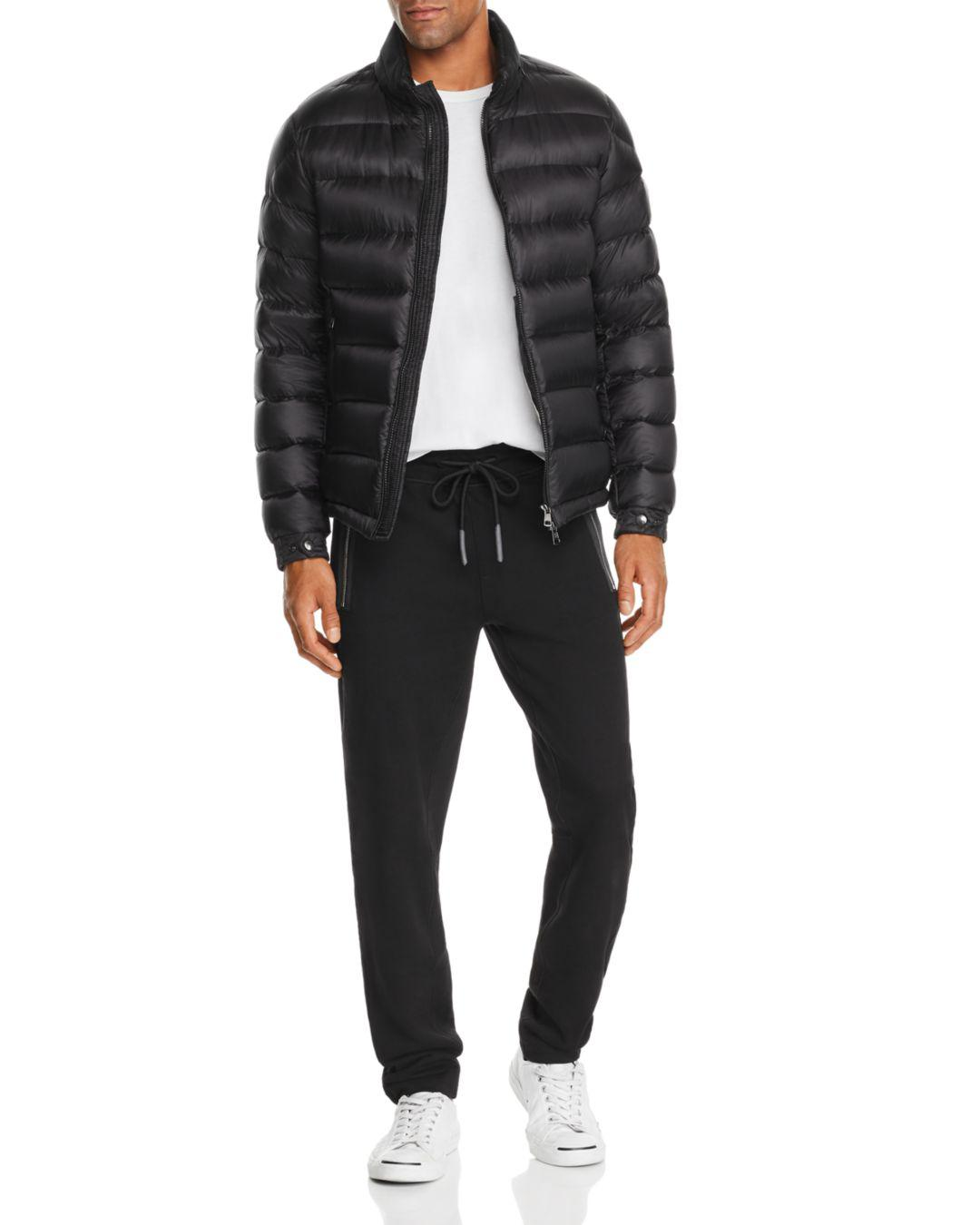 910429e94b41 Lyst - Moncler Rodez Logo-collar Quilted Down Jacket in Black for Men