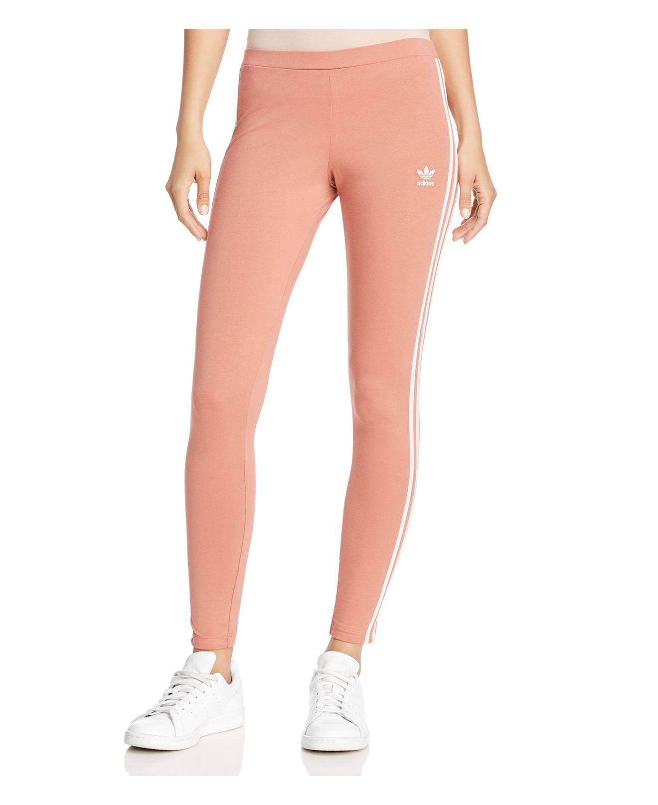 Adidas Originals tres Stripe leggings en color rosa Lyst