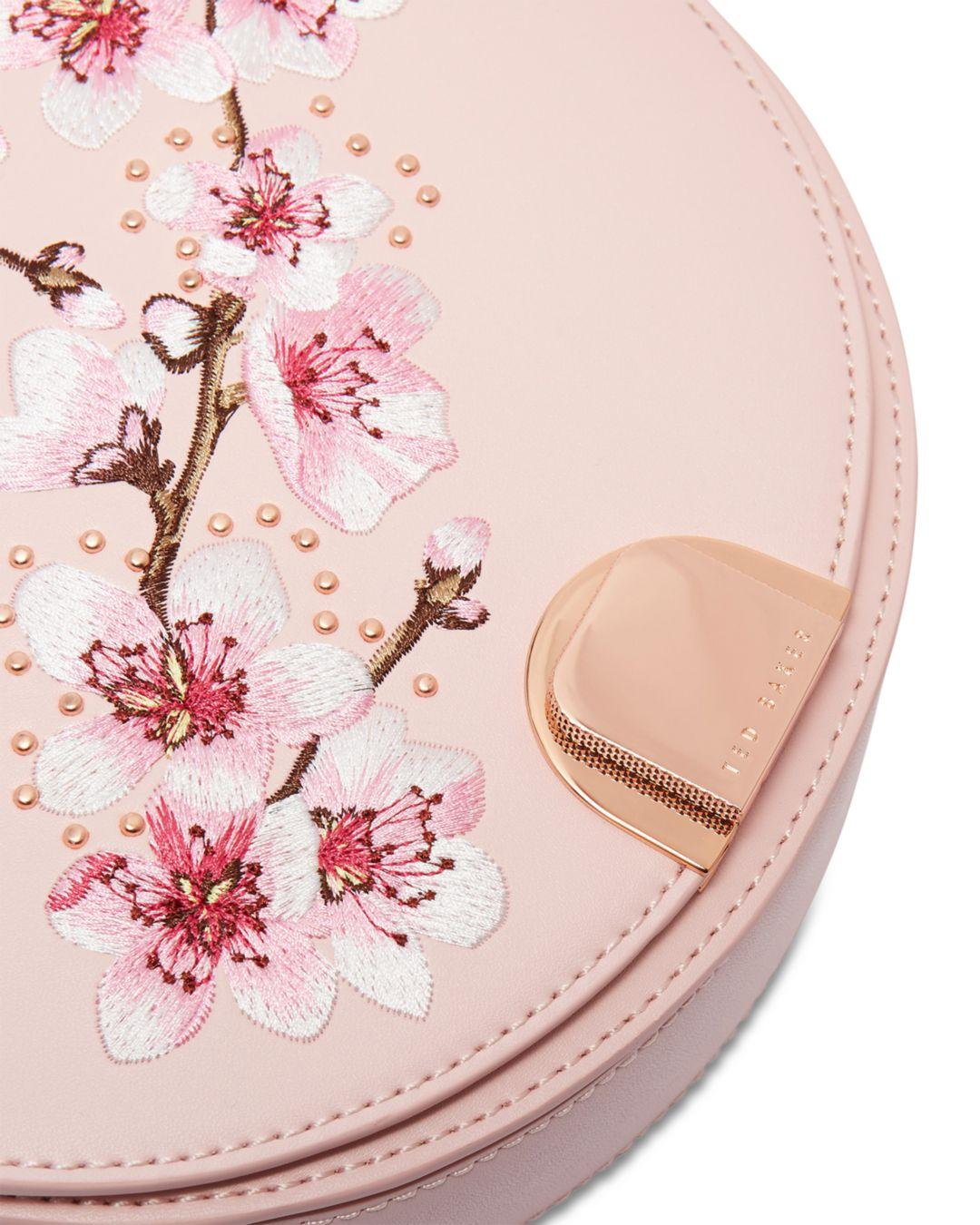 04253a3380 Ted Baker Susy Soft Blossom Leather Moon Bag in Pink - Lyst