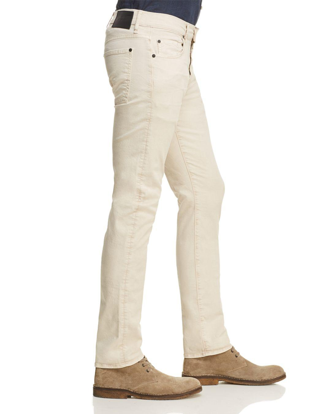 7 For All Mankind Denim Adrien Tapered Fit Jeans In White Onyx for Men