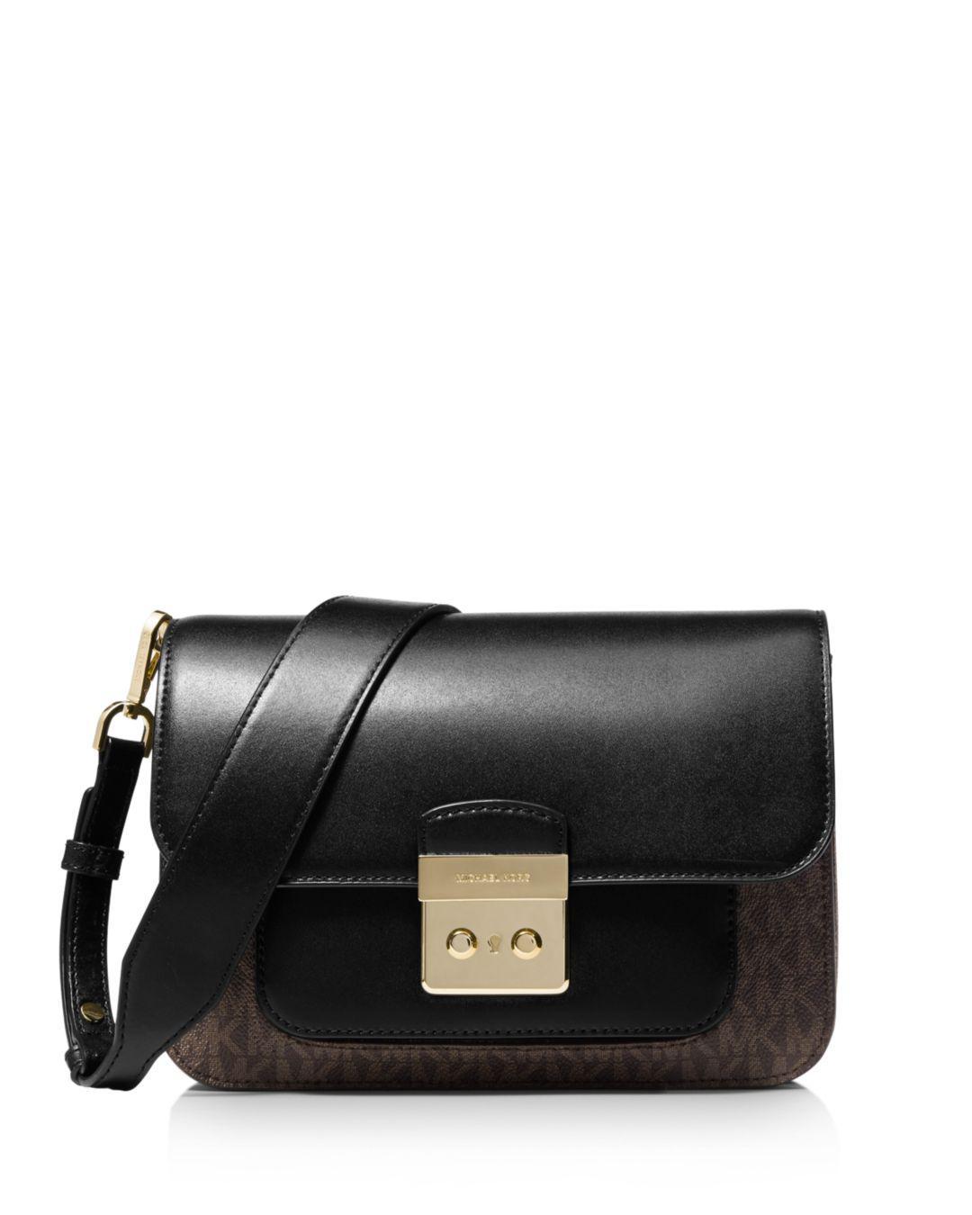 77c364ddb4f9 Michael Kors. Women s Black Michael Sloan Editor Signature Colorblock  Shoulder Bag