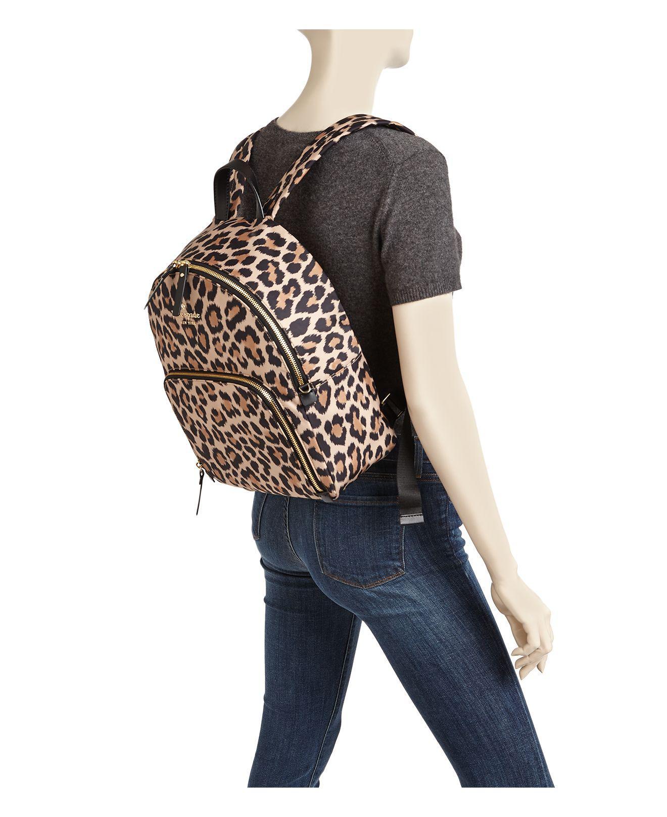 Kate Spade Synthetic Watson Lane Hartley Leopard Print Nylon Backpack