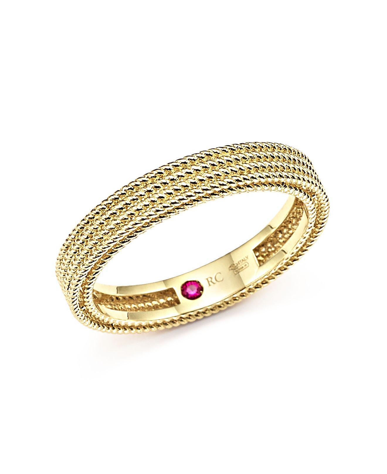 Roberto Coin Barocco Three-Row Diamond Bracelet in 18K Rose Gold 8Zq4qHI6
