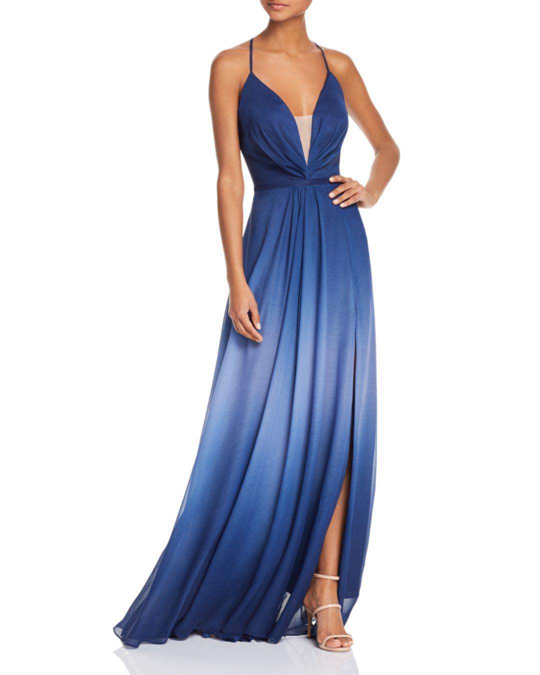 4d6b213c7e Aqua Ombré Tie-back Gown in Blue - Lyst