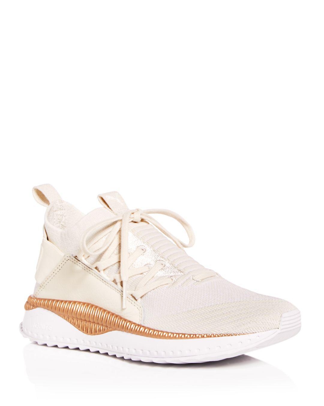 Lyst - PUMA Women s Tsugi Jun Knit Lace Up Sneakers in White 14ee10310