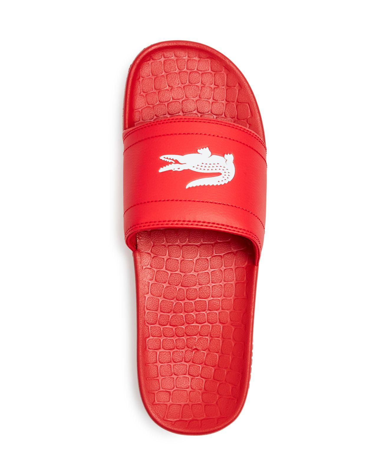 2a98271d Lacoste Red Men's Fraisier Slide Sandals for men