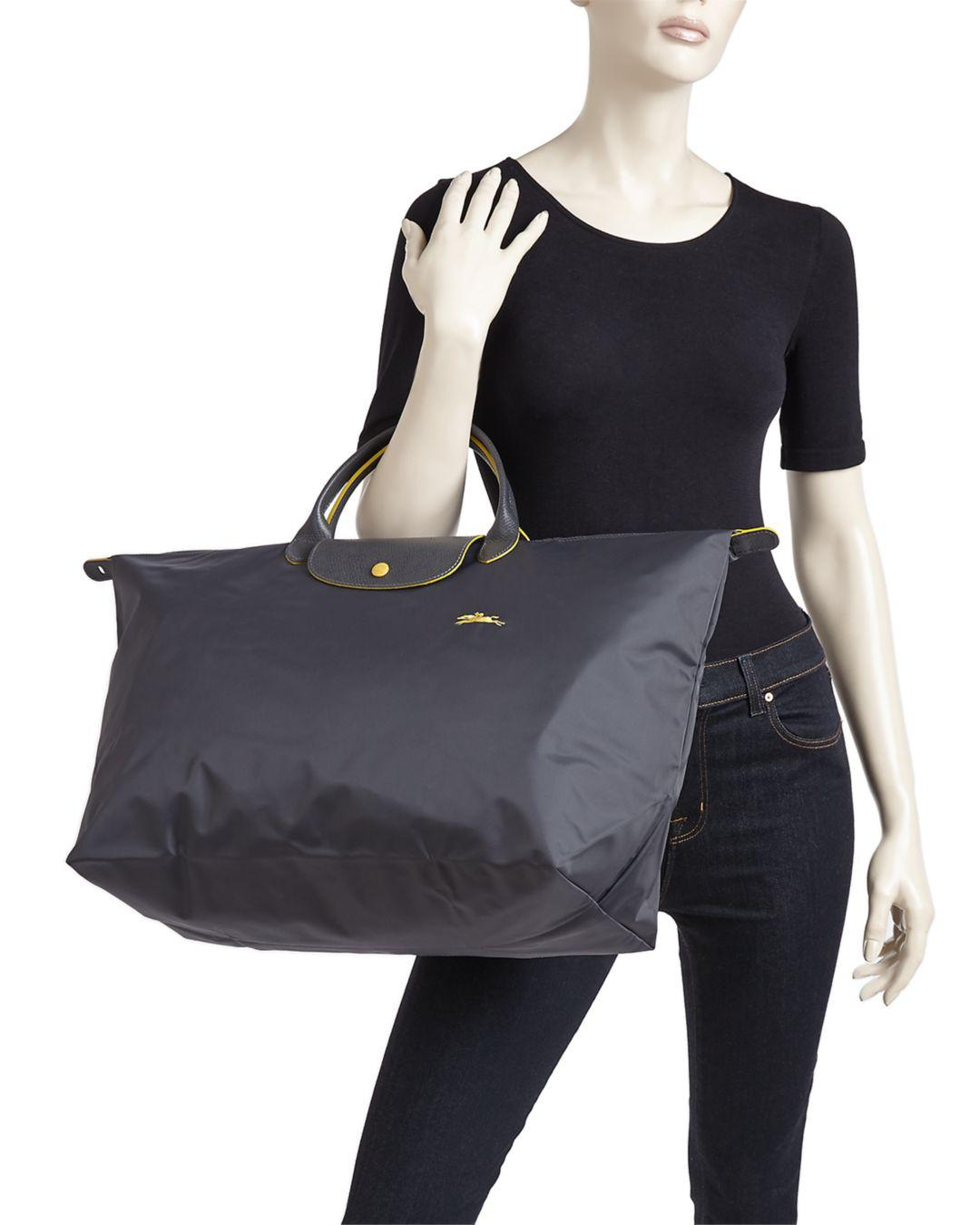 Lyst - Longchamp Le Pliage Club Large Nylon Canvas Travel Bag f31262bdabc63