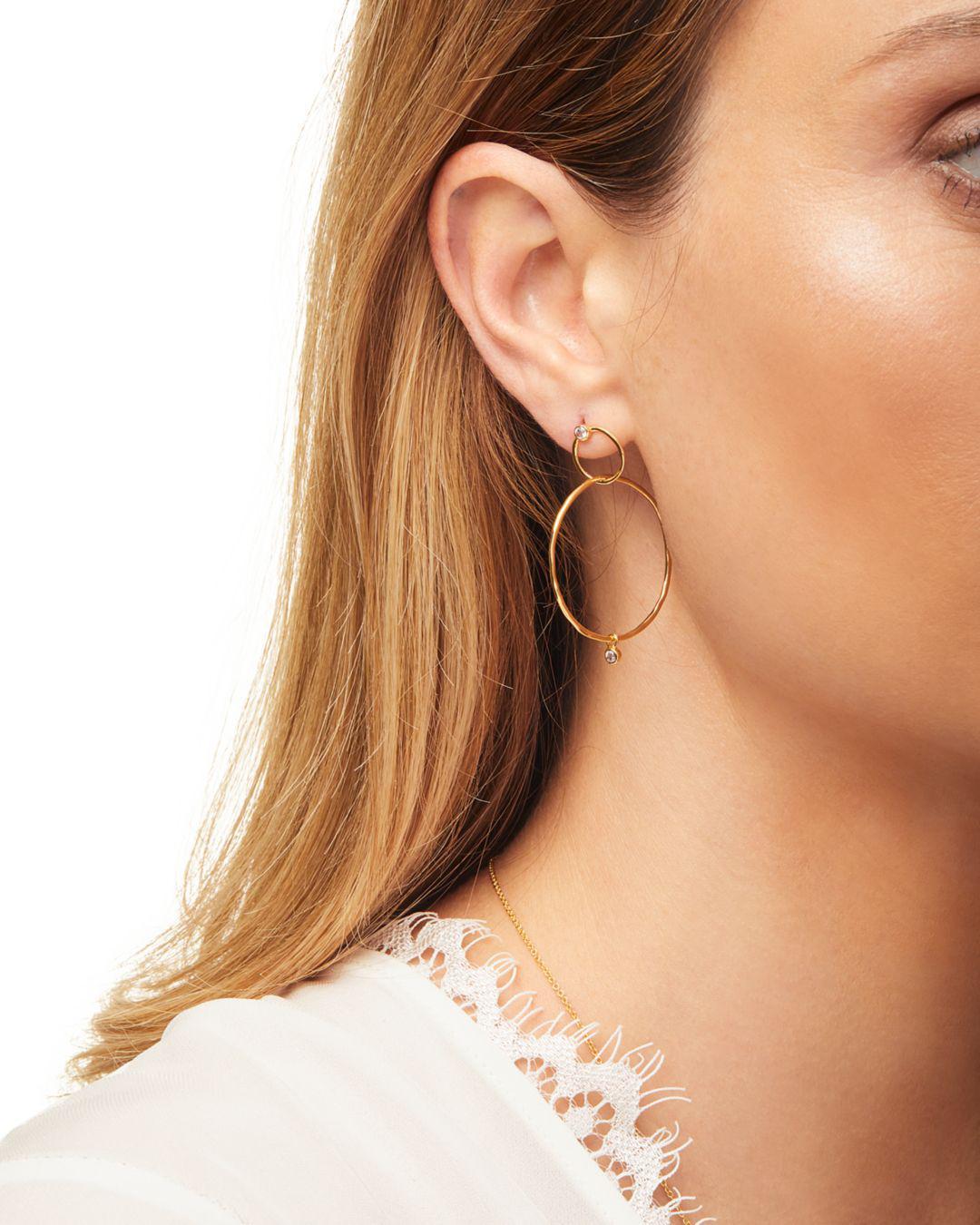Lyst Gorjana Josslyn Pavé Studded Interlocking Hoop Earrings In Metallic