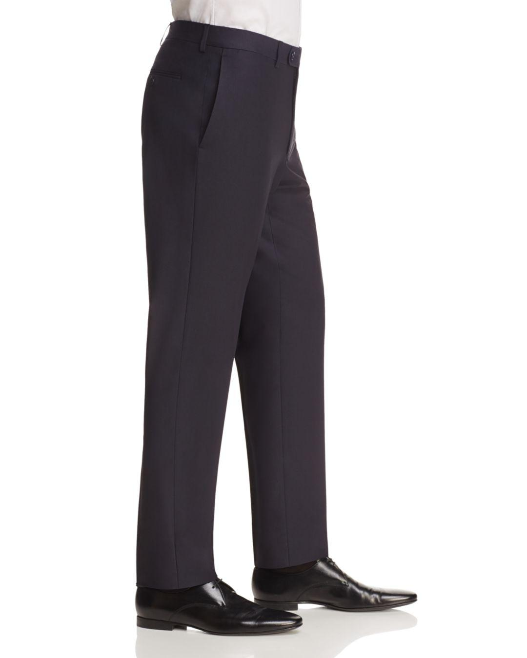 John Varvatos Regular Fit Trousers in Navy (Blue) for Men