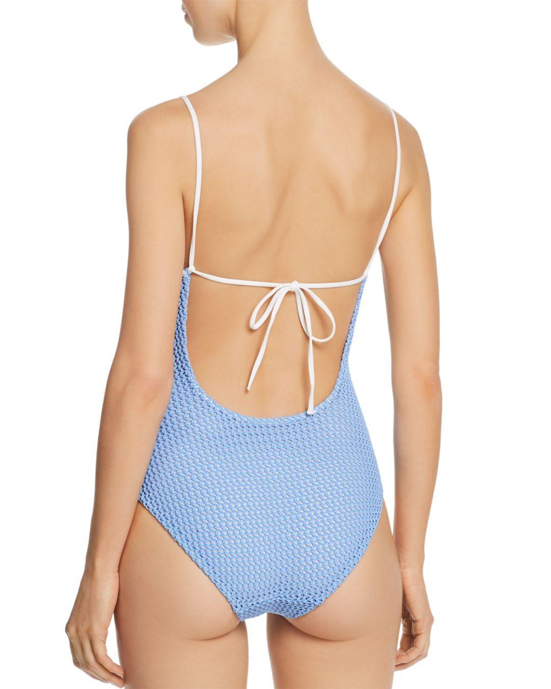 582e111c9203c Lyst - Onia Gloria One Piece Swimsuit in Blue