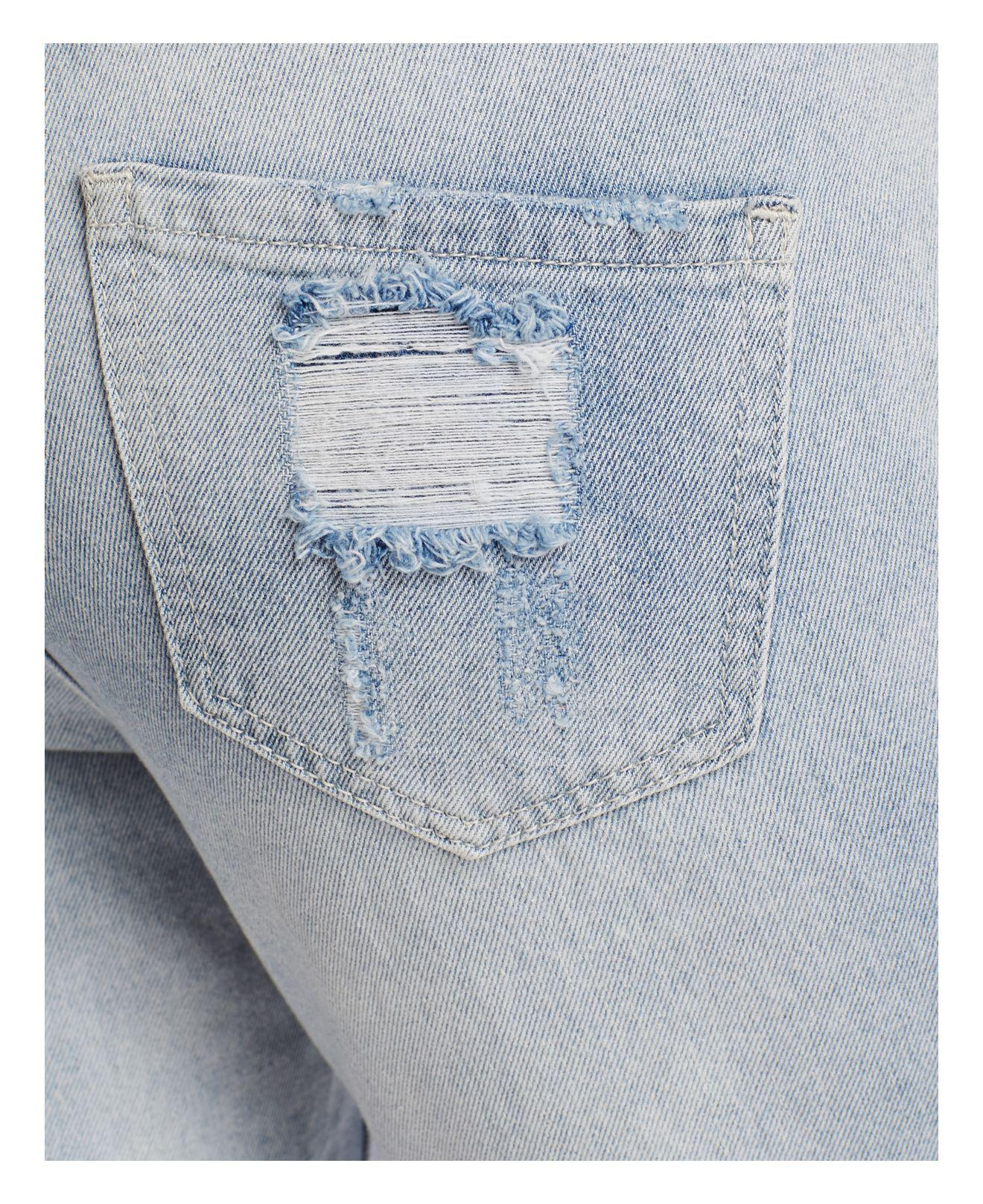 True Religion Denim Embellished Audrey Slim Boyfriend Jeans In New City in Blue