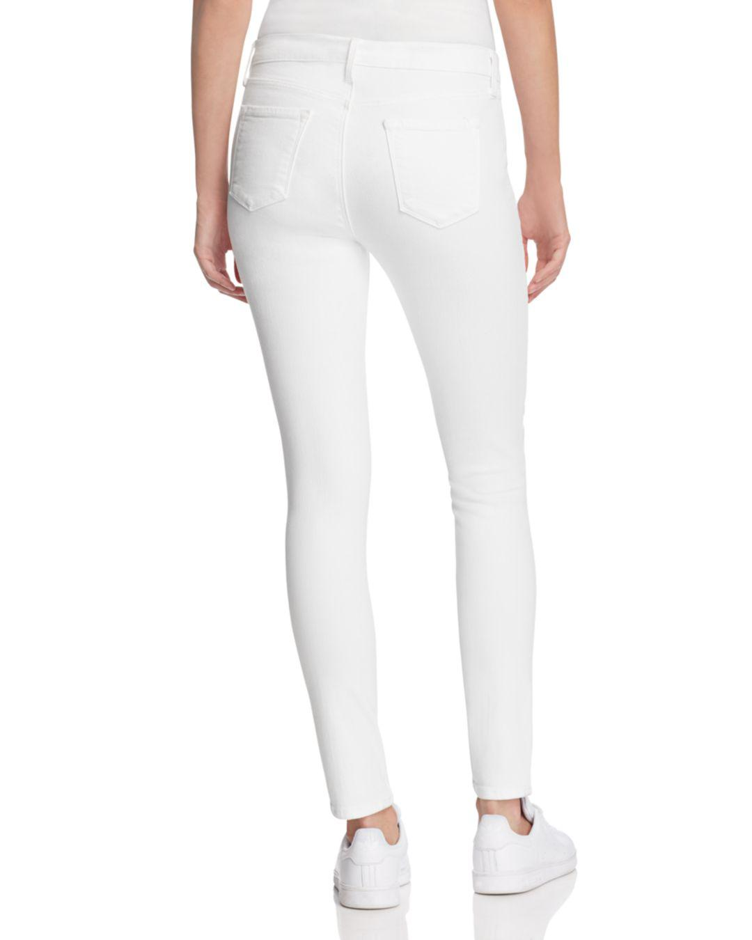 253f4c8a2f0b5 J Brand Mama J Skinny Maternity Jeans In Blanc in White - Save 45% - Lyst