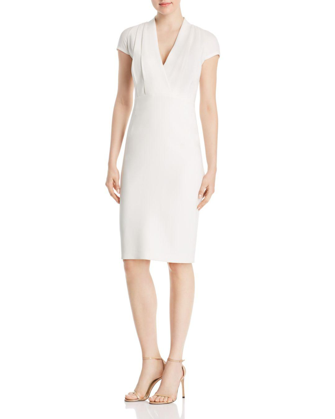 6e28fb47 Lyst - Elie Tahari Gerarda V-neck Sheath Dress in White