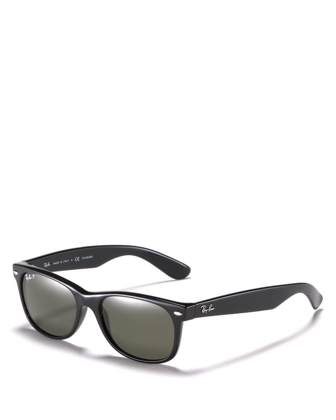 4c6632f470 Ray-Ban New Wayfarer Polarized Sunglasses in Black - Lyst