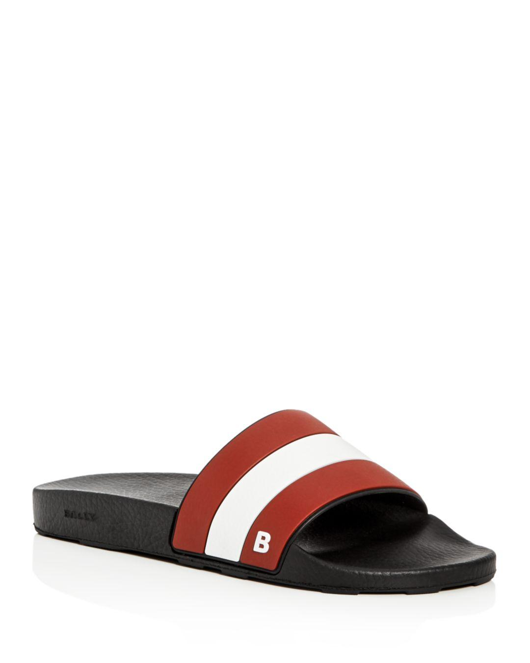 e328c1fe8e6c Lyst - Bally Men s Sleter Pool Slide Sandals in Red for Men