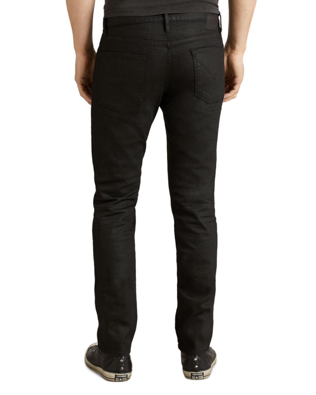 John Varvatos Denim Bowery Slim Straight Fit Jeans In Jet Black for Men