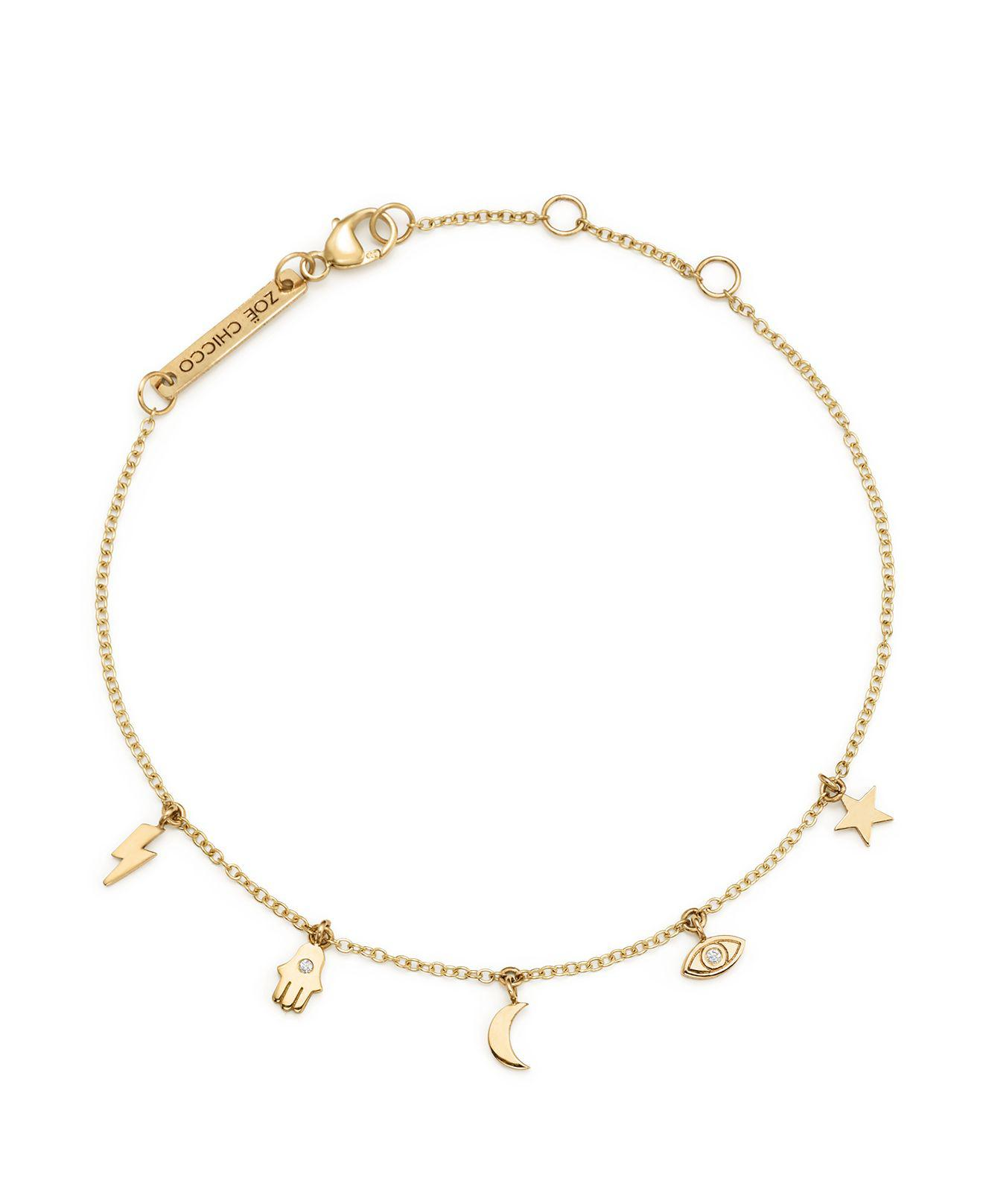 bracelets golden goldofjerusalem charms ankle by gold with anklet hamsa and bracelet