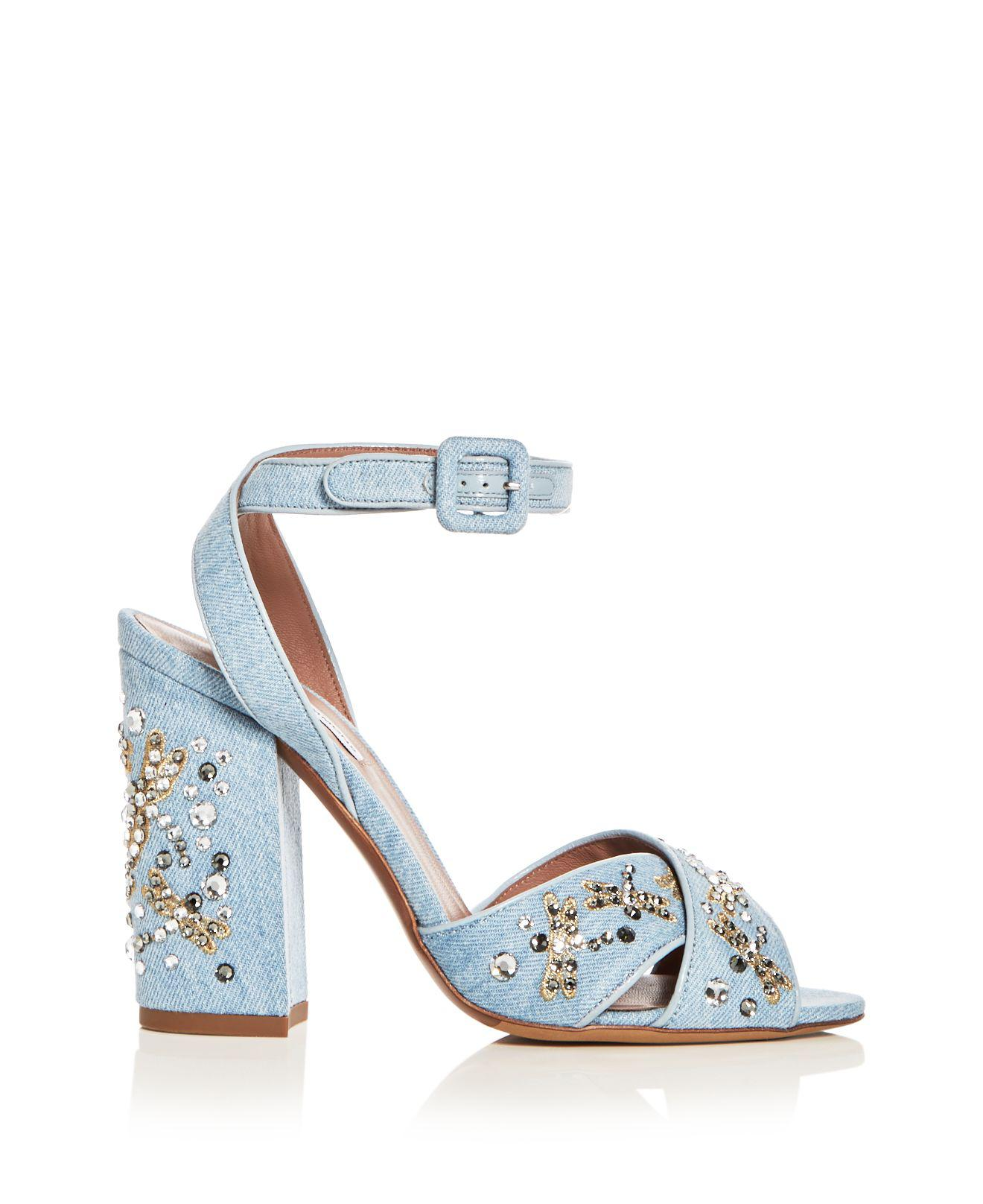Womens Connie Embellished Denim Sandals Tabitha Simmons m5aBv