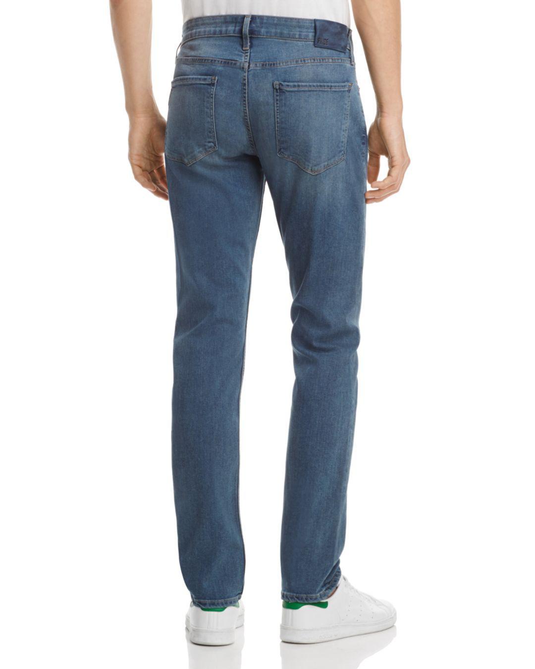 PAIGE Denim Lennox Super Slim Fit Jeans In Nation in Blue for Men