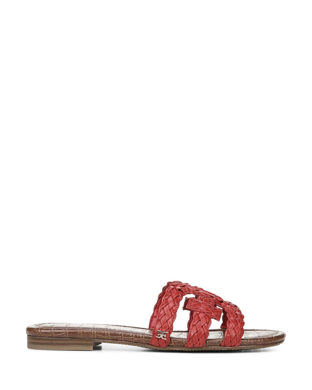 26f0d8d2d Sam Edelman Women s Beckie Woven Slide Sandals in Red - Lyst