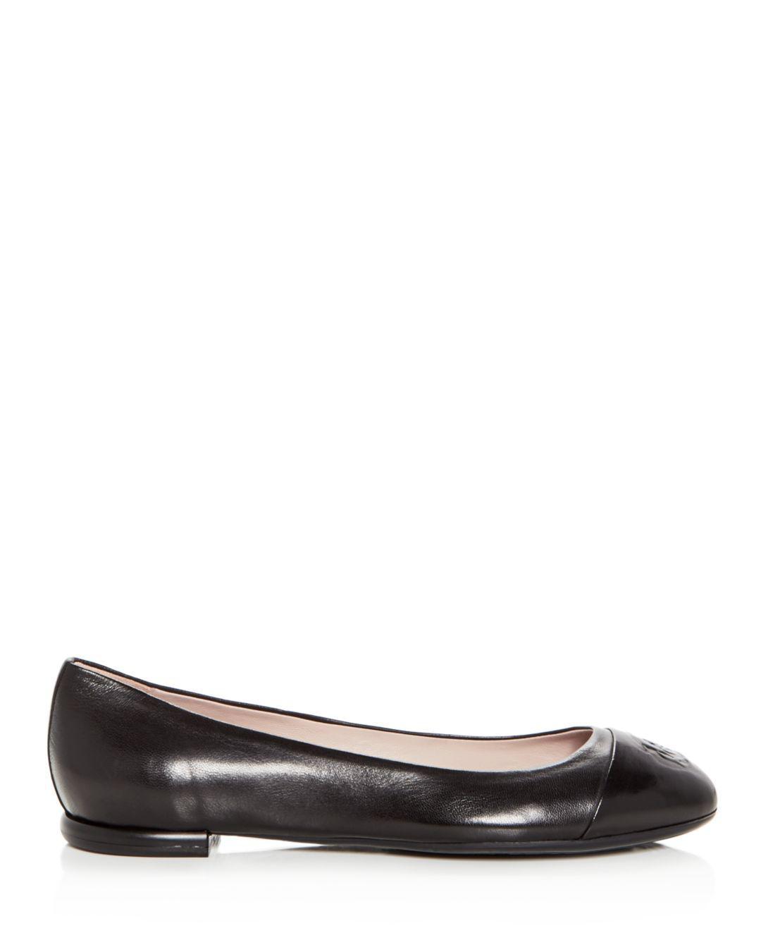 d16ed6eae68 Lyst - Taryn Rose Rosa Ballet Flat in Black - Save 58%