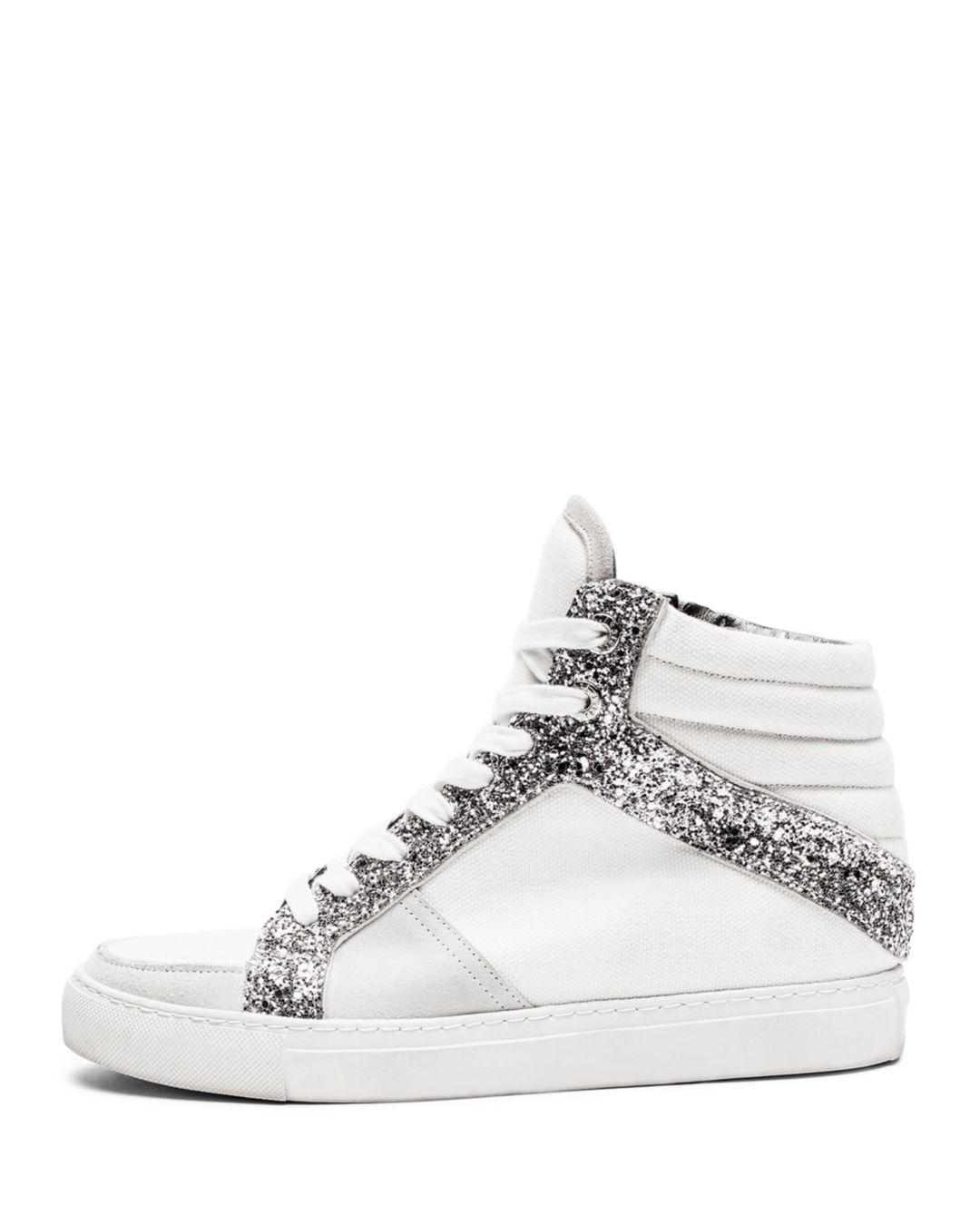 Zadig & Voltaire Zv1747 Mid Glit Sneakers in White