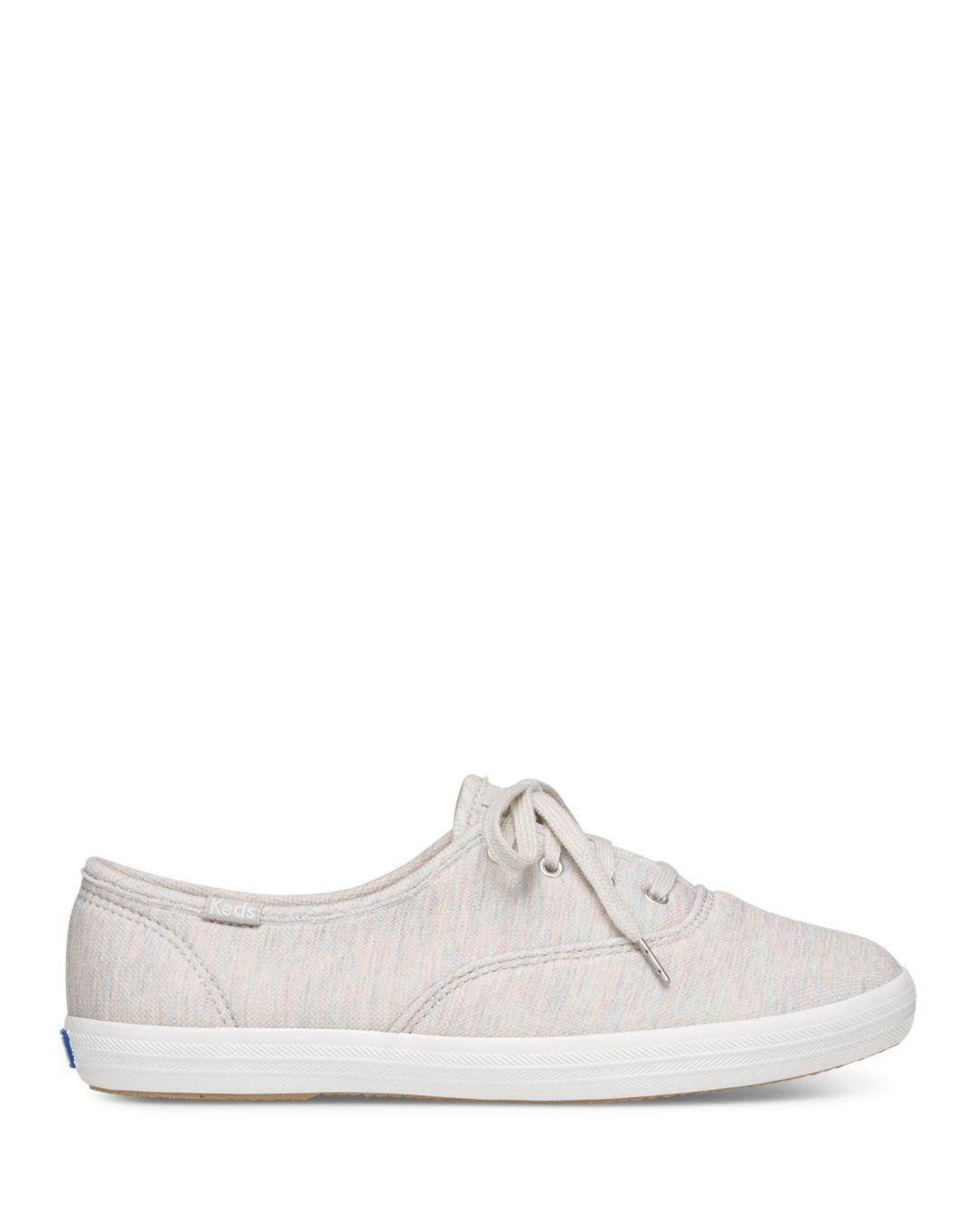 cc689c2780b107 Lyst - Keds Women s Champion Jersey Lace Up Sneakers in Gray