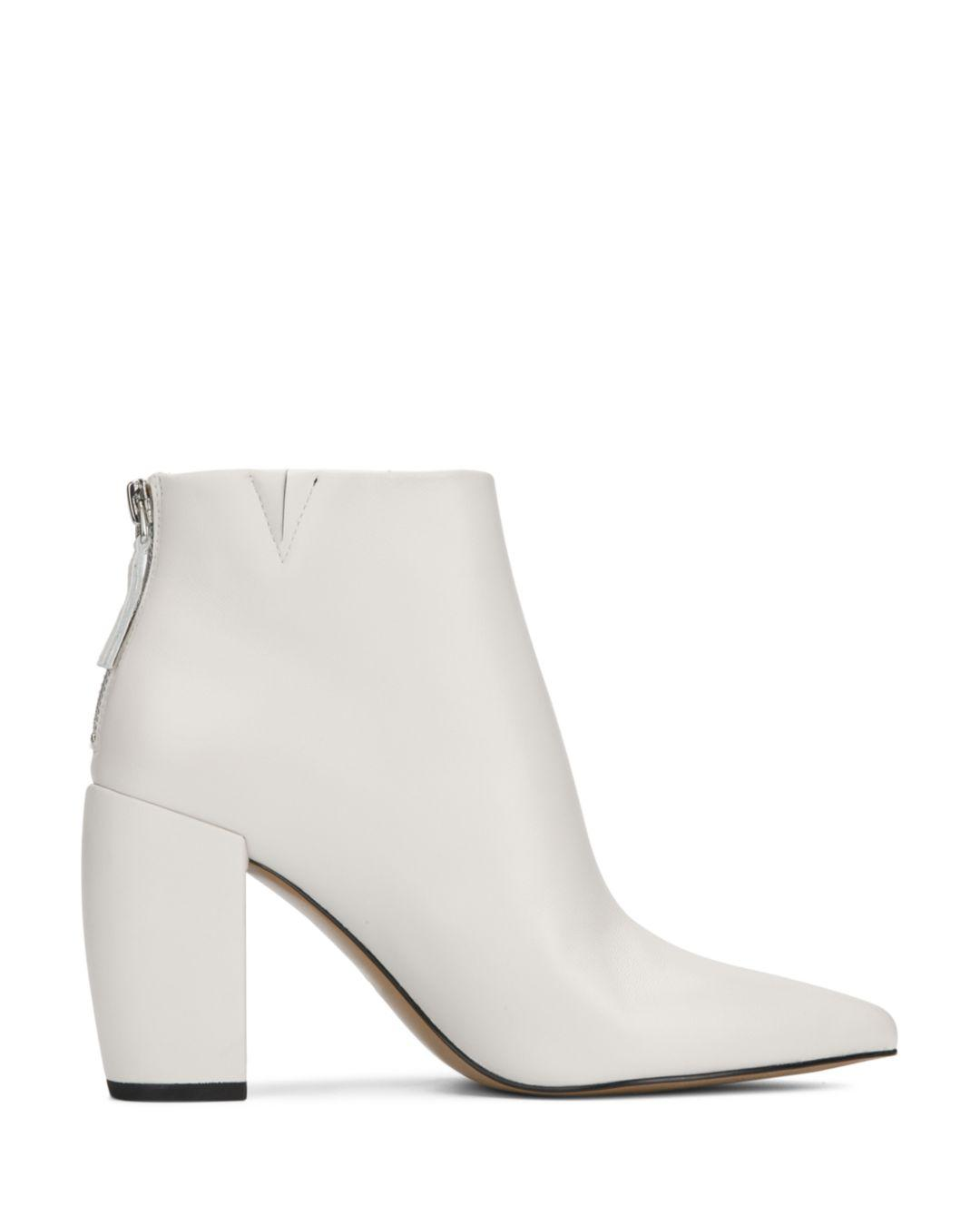 07cb5e1d124 Kenneth Cole Women s Alora High Block-heel Booties in White - Lyst