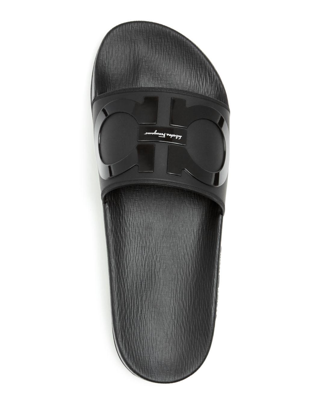 518b73304 Ferragamo - Black Men's Groove 2 Original Double Gancini Slide Sandals for  Men - Lyst. View fullscreen