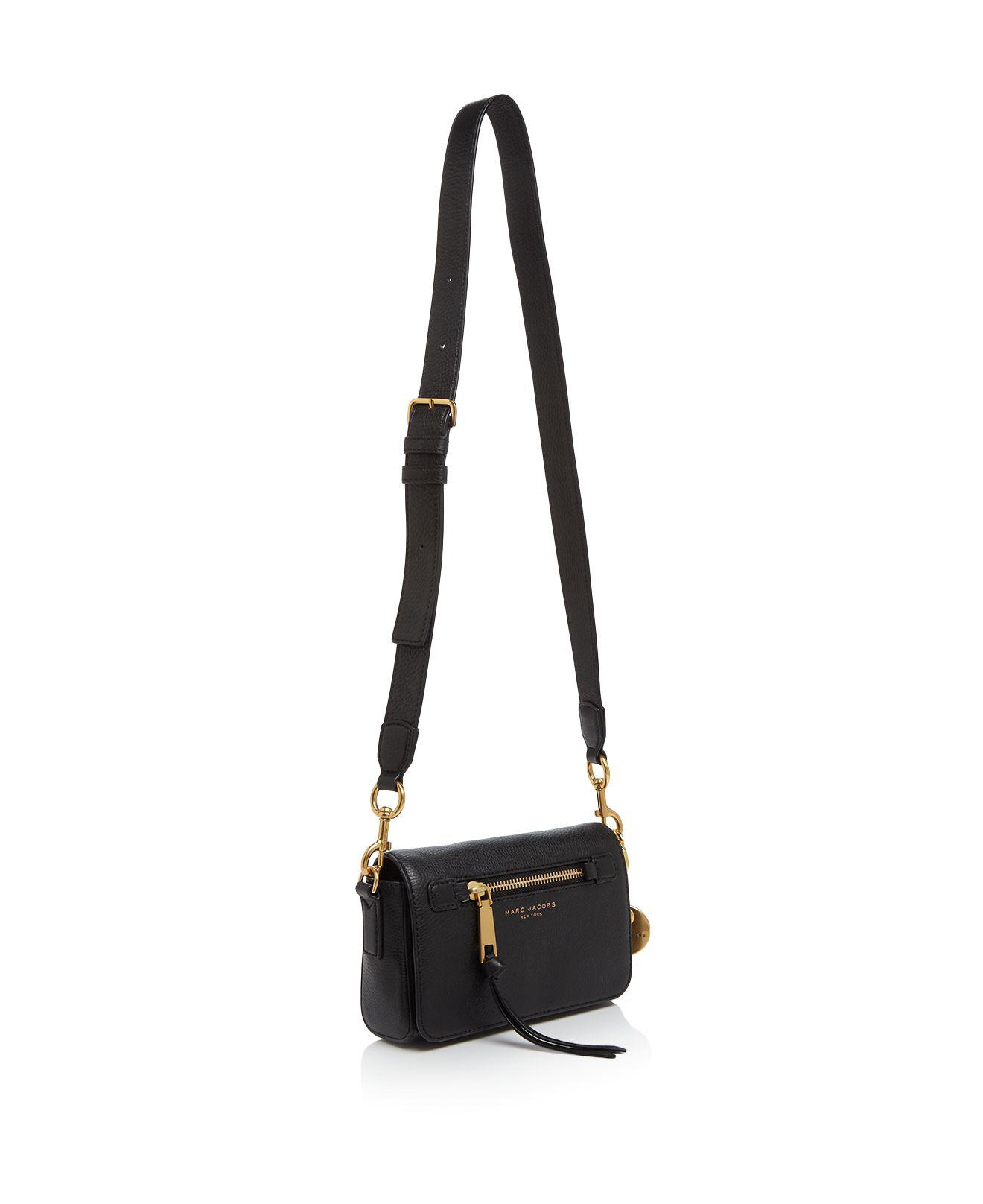 Marc Jacobs Leather Recruit Crossbody in Blue