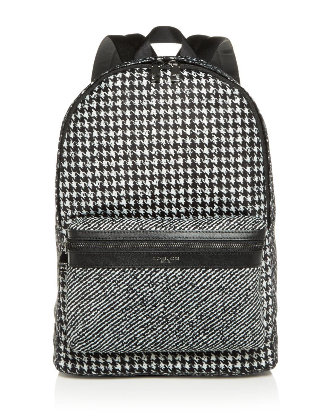 671da9e7aad7 ... free shipping michael kors black kent houndstooth nylon backpack for  men lyst. view fullscreen 4194c