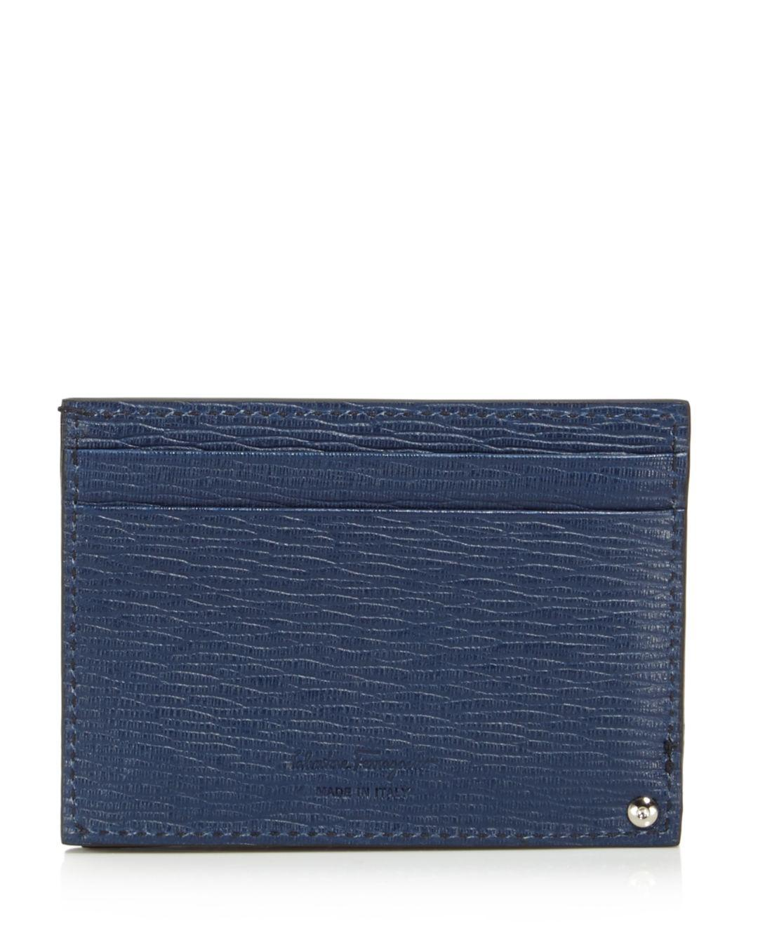 e1d144219aa Lyst - Ferragamo Revival Card Case With Id in Blue for Men - Save 25%