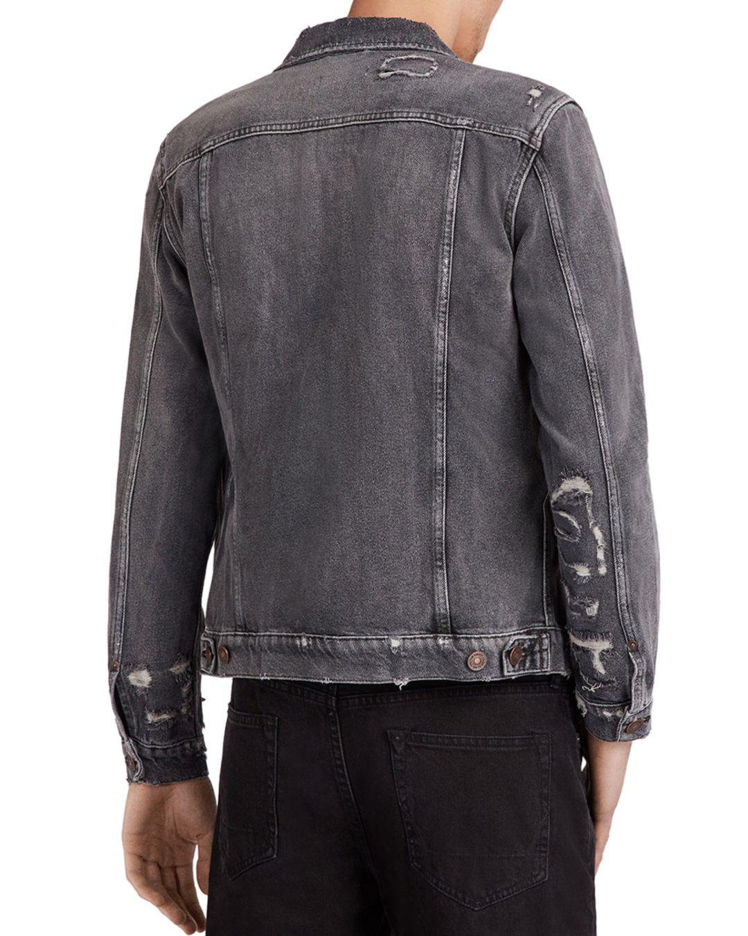 AllSaints Denim Washed Black for Men