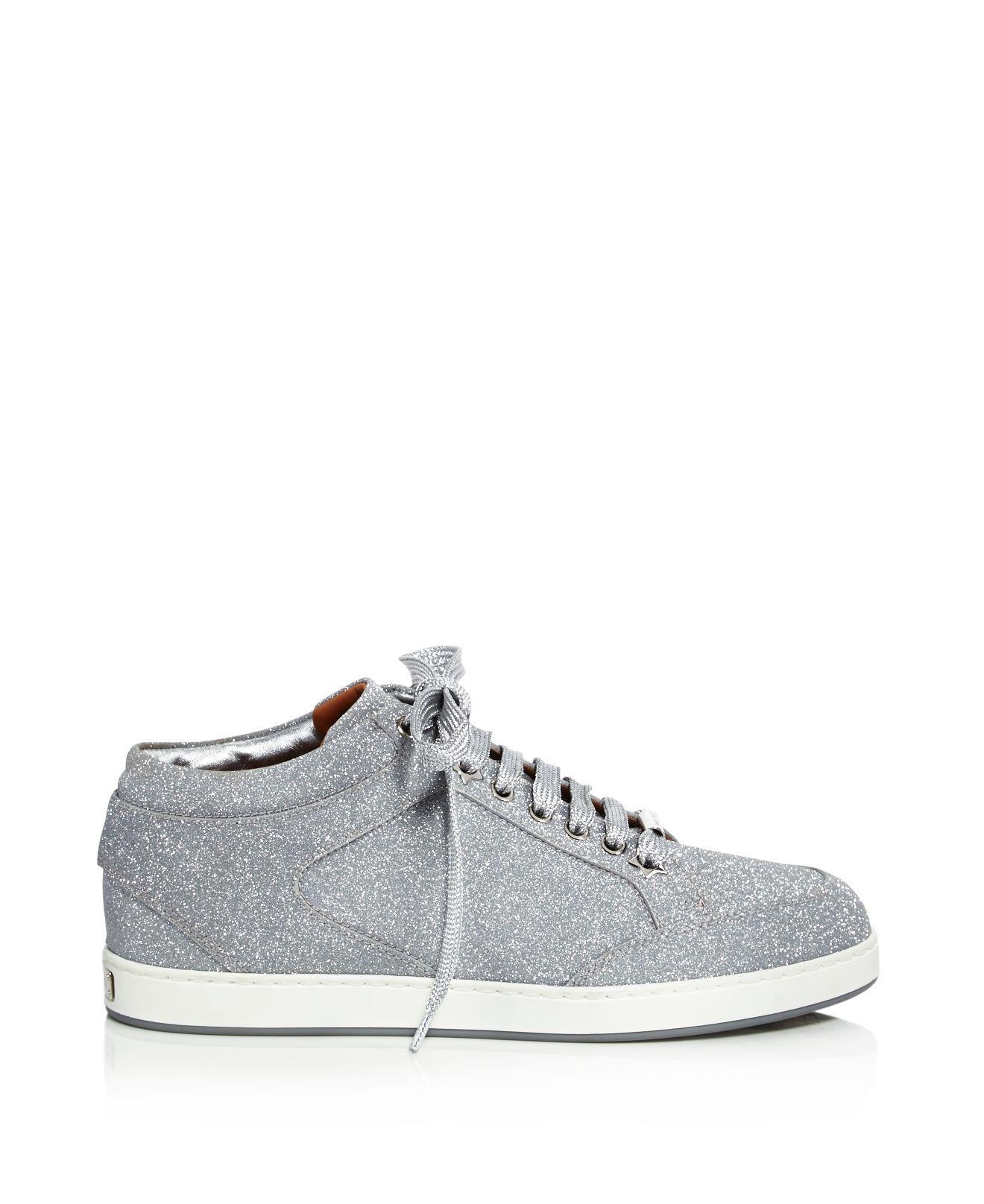 Miami Canvas-paneled Leather Sneakers - White Jimmy Choo London w8wWT6Qd