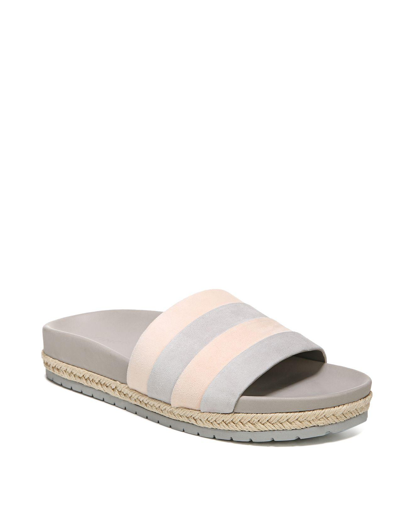 Vince Women's Alisa Color-Block Leather Pool Slide Sandals uzBnI