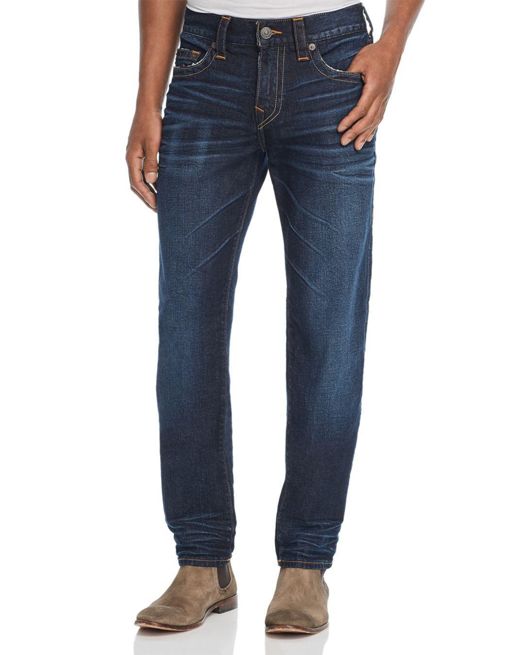 ea64a717e1b3 Lyst - True Religion Rocco Slim Fit Jeans In Dark Tunnel in Blue for Men