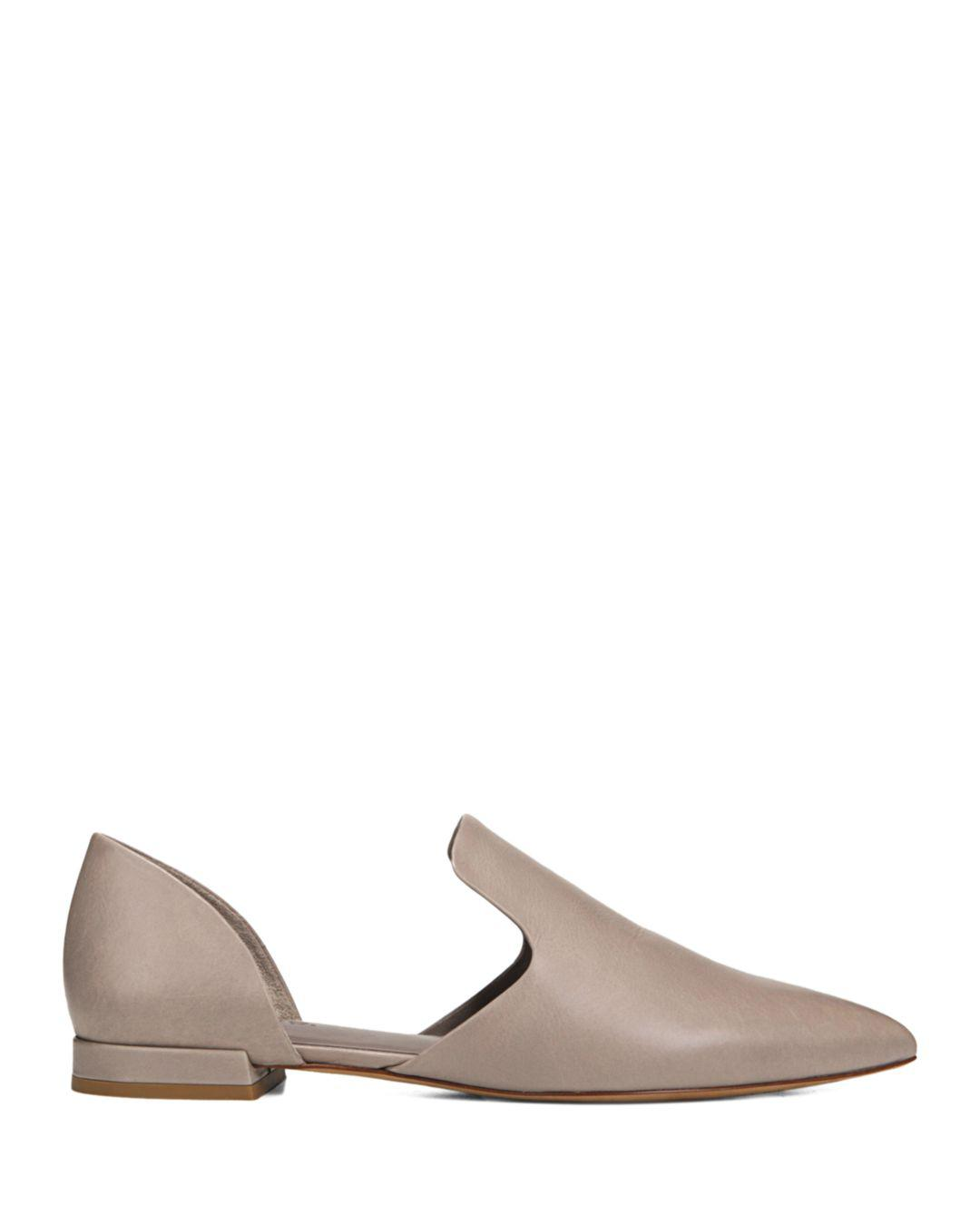 Vince Damris Leather Flat in Grey