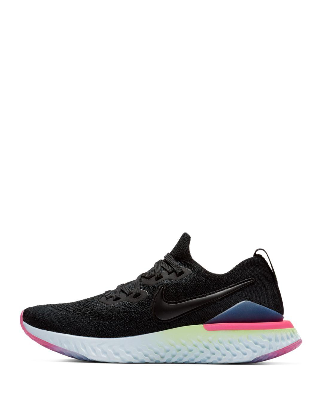 030493bb20f Lyst - Nike Women s Epic React Flyknit 2 Low-top Sneakers in Black